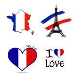 Jubileums- Frankrike symbol Royaltyfria Bilder