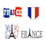 Jubileums- Frankrike symbol Royaltyfri Fotografi