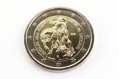 Jubileums- myntjubileum 2016, Holy See, Vatican City för euro två Royaltyfri Fotografi