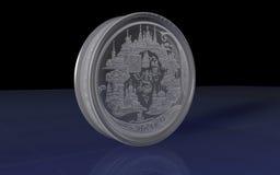 jubileums- silver för mynt stock illustrationer