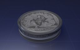 Jubileums- silvermynt 200 rubel Arkivbild