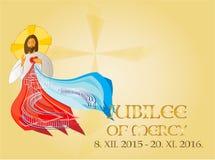 Jubileusz litość Świętego roku tło Obraz Stock