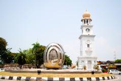 Jubileuszowy Zegarowy wierza Penang obrazy stock