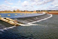 Jubiläum-Fluss-Wehr Stockfotografie