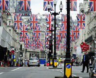 Jubiläumdekoration und -vorbereitung Diamant der Königin Lizenzfreies Stockbild