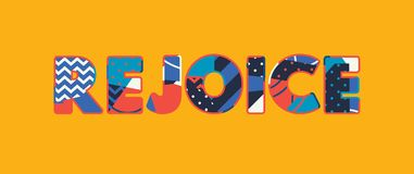 Jubla begreppsordet Art Illustration stock illustrationer