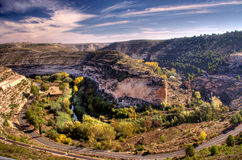 Jucar valley. A road route through the jucar valley, in albacete province (spain Stock Photography