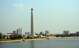 Juche torn, Pyongyang, Nordkorea Arkivbilder