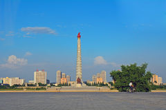 Juche Tower, Pyongyang, North-Korea Stock Photos