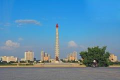 Juche Tower, Pyongyang, North-Korea Stock Photos