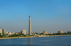 Juche Tower, Pyongyang, North-Korea Stock Photography