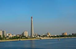 Juche Tower, Pyongyang, North-Korea Stock Photography