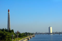 Juche Tower, Pyongyang, North-Korea Royalty Free Stock Photo