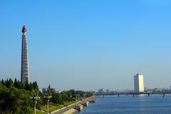 Juche Tower, Pyongyang, North-Korea Royalty Free Stock Photo