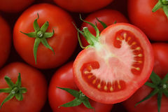 Jucy half of tomato Royalty Free Stock Image