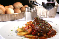 Jucy steak well done Royalty Free Stock Photos