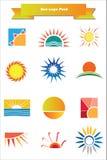 juczny loga słońce Obrazy Royalty Free