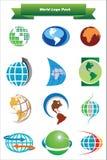 juczny loga świat Obraz Royalty Free