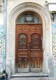 Judío de madera del viejo vintage de la puerta fotografía de archivo