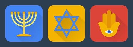 Judaísmo plano Fotos de archivo