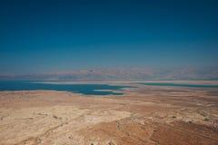 Judaean沙漠和死海的风景 免版税库存图片