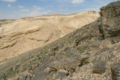 Judaean沙漠的视图阿拉德边缘在以色列 免版税图库摄影