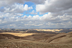 Judaean Desert. View of Acco city in the western Galilee from the Judean Desert, Israel Stock Photos