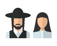 Judaic man and woman Royalty Free Stock Image