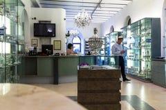 Judaic store on Mamilla street.  Jerusalem Royalty Free Stock Photos