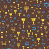 Judaism church traditional seamless pattern hanukkah religious synagogue passover hebrew jew vector illustration. Judaism church traditional seamless pattern Royalty Free Stock Photo