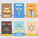 Judaism church traditional symbols icons set isolated vector illustration Royalty Free Stock Photography