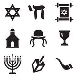 Judaism Icons Royalty Free Stock Photography