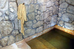 Judaism - Mikvah. QUMRAN, ISR - SEP 27:Ancient mikvah on September 27 2007.It's a bath used for the purpose of the ritual immersion in Judaism according to the Stock Photography