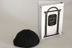 Judaism object tallit tefillin siddur for prayer. Judaism object a tallit & tefillin & siddur for prayer Stock Image