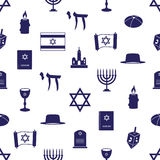 Judaism religion symbols seamless blue pattern eps10. Judaism religion symbols seamless blue pattern Royalty Free Stock Image