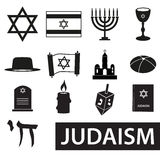 Judaism religion symbols vector set of icons eps10 Stock Photography