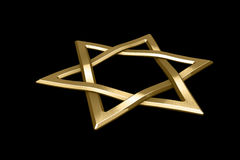 Judaism religious symbol - star of david Royalty Free Stock Images