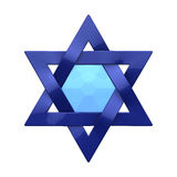 Judaism religious symbol - star of david Royalty Free Stock Image