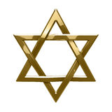 Judaism religious symbol - star of david Stock Photos