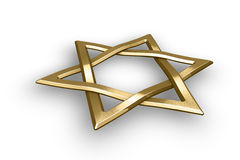 Judaism religious symbol - star of david Royalty Free Stock Image