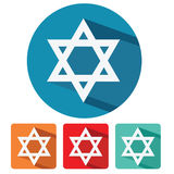 Judaism star of david flat design icon Royalty Free Stock Image