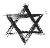 Judaism sumbol. Judaic religion symbol created in grunge style Royalty Free Stock Image