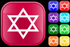 Judaism symbol. Star of David, icon and symbol of the Jewish faith Royalty Free Illustration