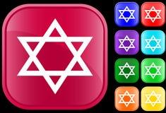 Judaism  symbol. Star of David, icon and symbol of the Jewish faith Royalty Free Stock Photos