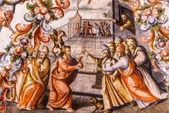 Judas Fresco Sanctuary av Jesus Atotonilco Mexico Royaltyfri Fotografi