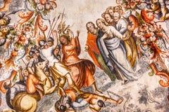 Judas Jesus Fresco Sanctuary av Jesus Atotonilco Mexico Royaltyfri Foto