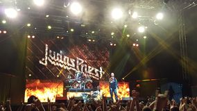 Judas Priest no concerto Fotografia de Stock Royalty Free