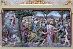 Judaszowy buziak, Jezus w ogródzie Gethsemane Zdjęcie Royalty Free