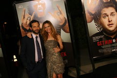 Judd Apatow and Leslie Mann #1. Judd Apatow and Leslie Mann attend the premiere of 'Get Him to the Greek' at the Greek Theater in Los Angeles Stock Photo