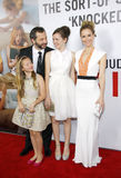Judd Apatow, Maude Apatow, радужка Apatow и Лесли Mann Стоковое Изображение RF